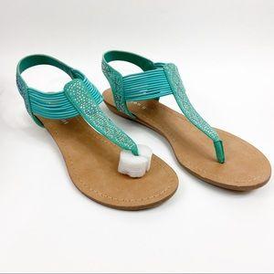 Madden Girl   Teager Mint Green Sandals Sz 9